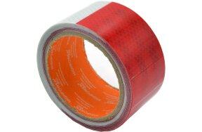 REFLECTIVE TAPE 50mmx5m RED-WHITE RED-WHITE